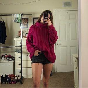 NWOT Free People Oversized Turtleneck Sweater
